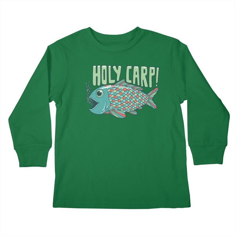 Holy Carp Kids Longsleeve T-Shirt by SteveOramA