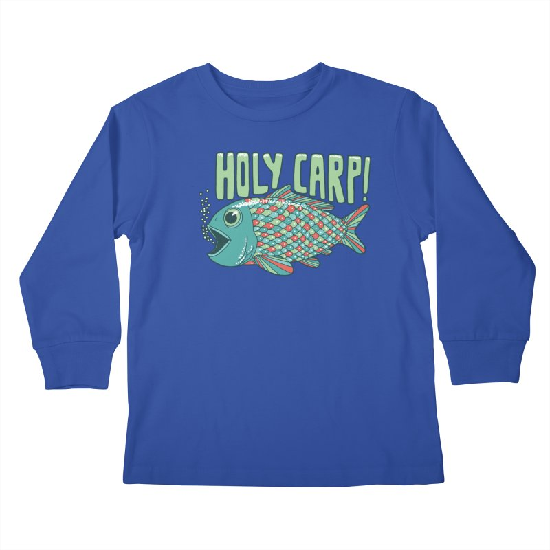 Holy Carp Kids Longsleeve T-Shirt by SteveOramA