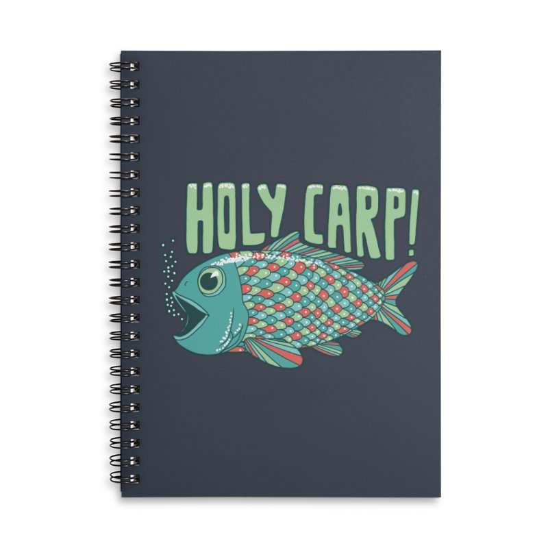 Holy Carp Accessories Lined Spiral Notebook by SteveOramA