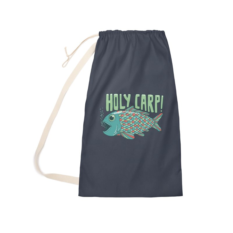 Holy Carp Accessories Laundry Bag Bag by SteveOramA