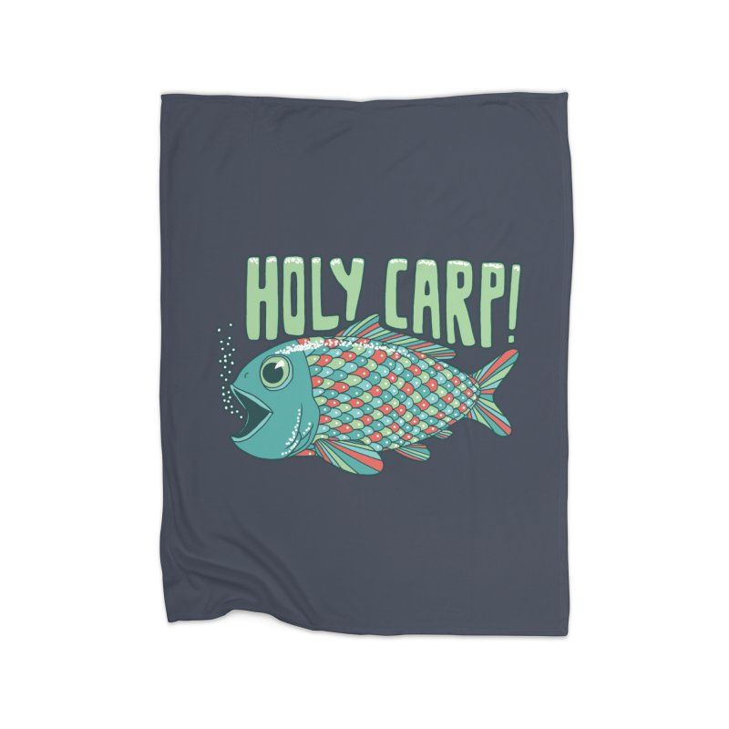 Holy Carp Home Fleece Blanket Blanket by SteveOramA