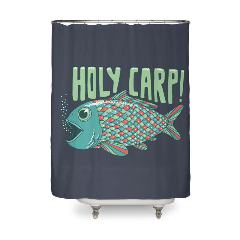 Holy Carp Home Shower Curtain by SteveOramA