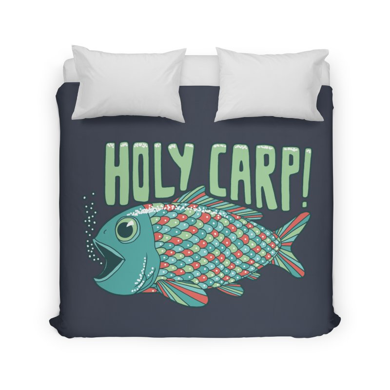 Holy Carp Home Duvet by SteveOramA