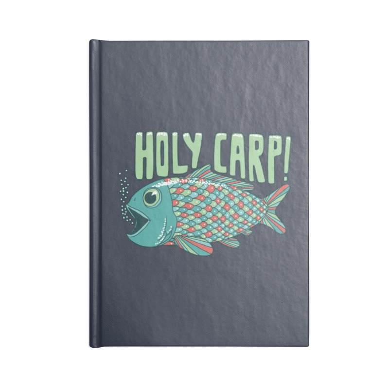 Holy Carp Accessories Lined Journal Notebook by SteveOramA