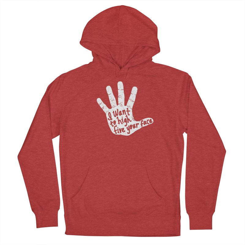 Hand to Face Women's French Terry Pullover Hoody by SteveOramA
