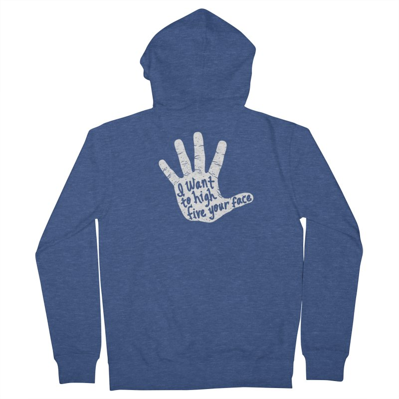 Hand to Face Men's Zip-Up Hoody by SteveOramA