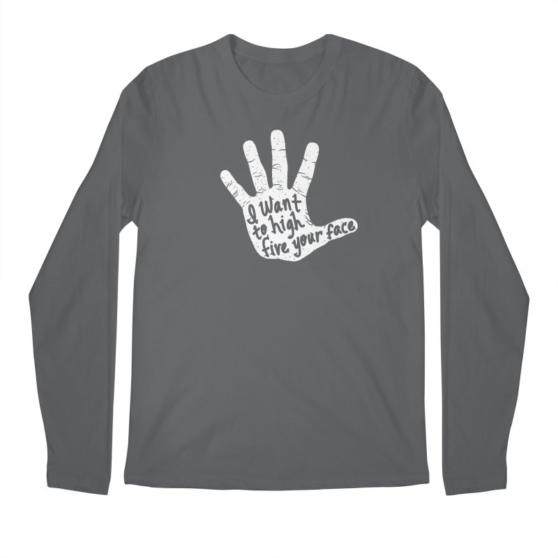 Hand to Face Men's Longsleeve T-Shirt by SteveOramA