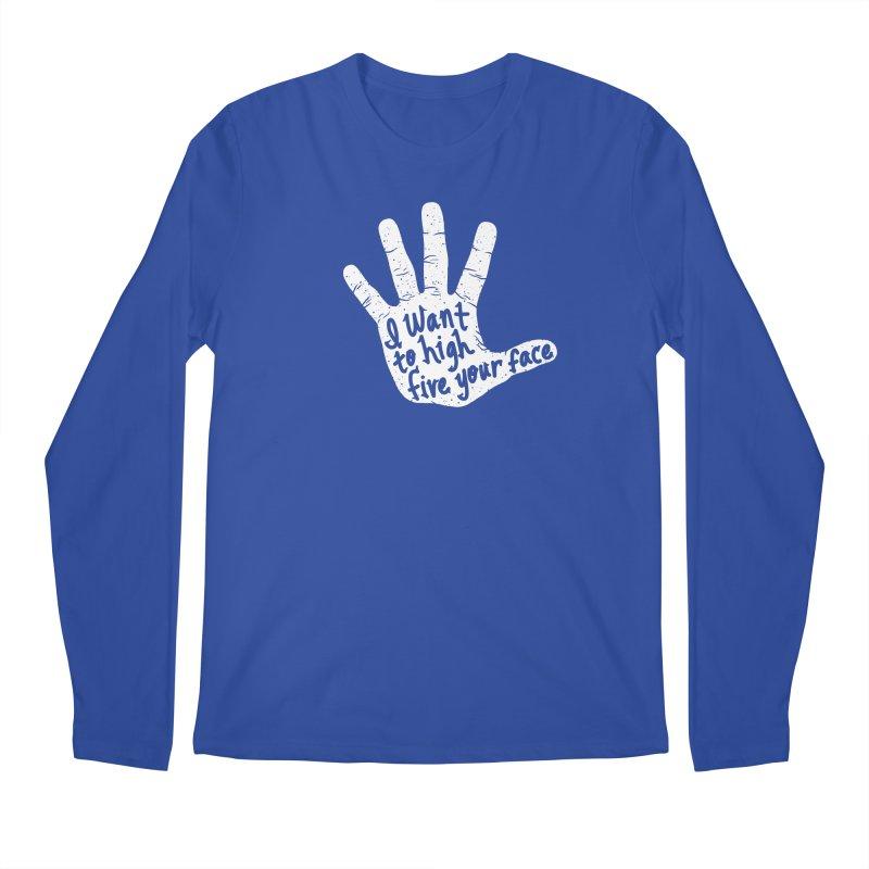 Hand to Face Men's Regular Longsleeve T-Shirt by SteveOramA