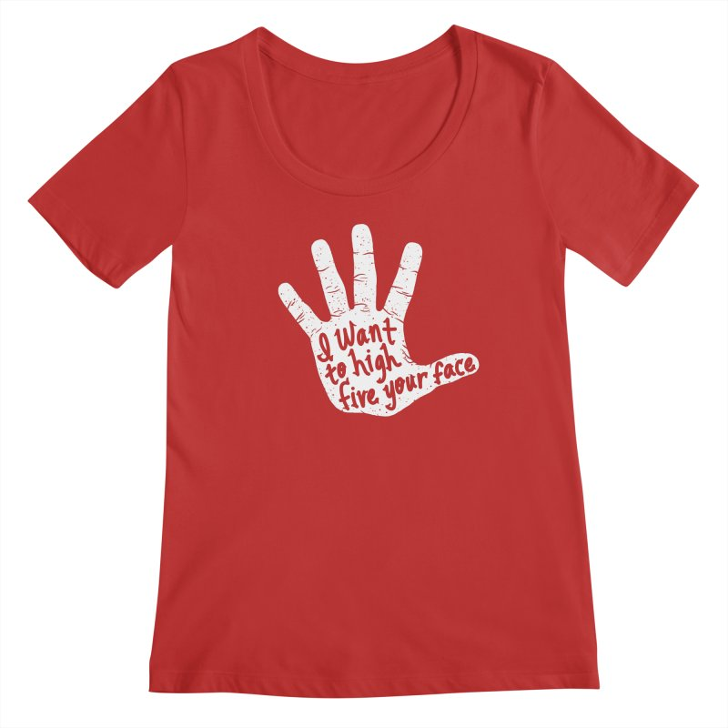 Hand to Face Women's Regular Scoop Neck by SteveOramA