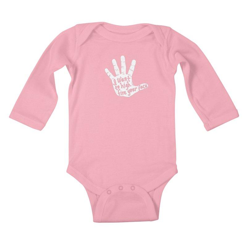 Hand to Face Kids Baby Longsleeve Bodysuit by SteveOramA
