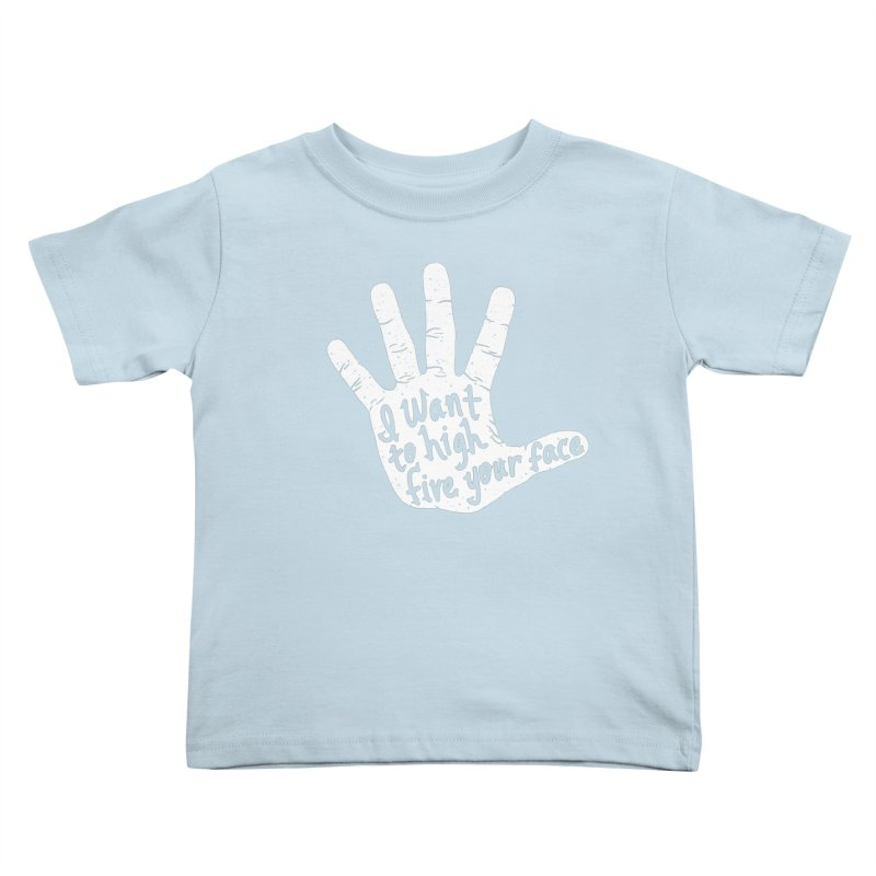 Hand to Face Kids Toddler T-Shirt by SteveOramA