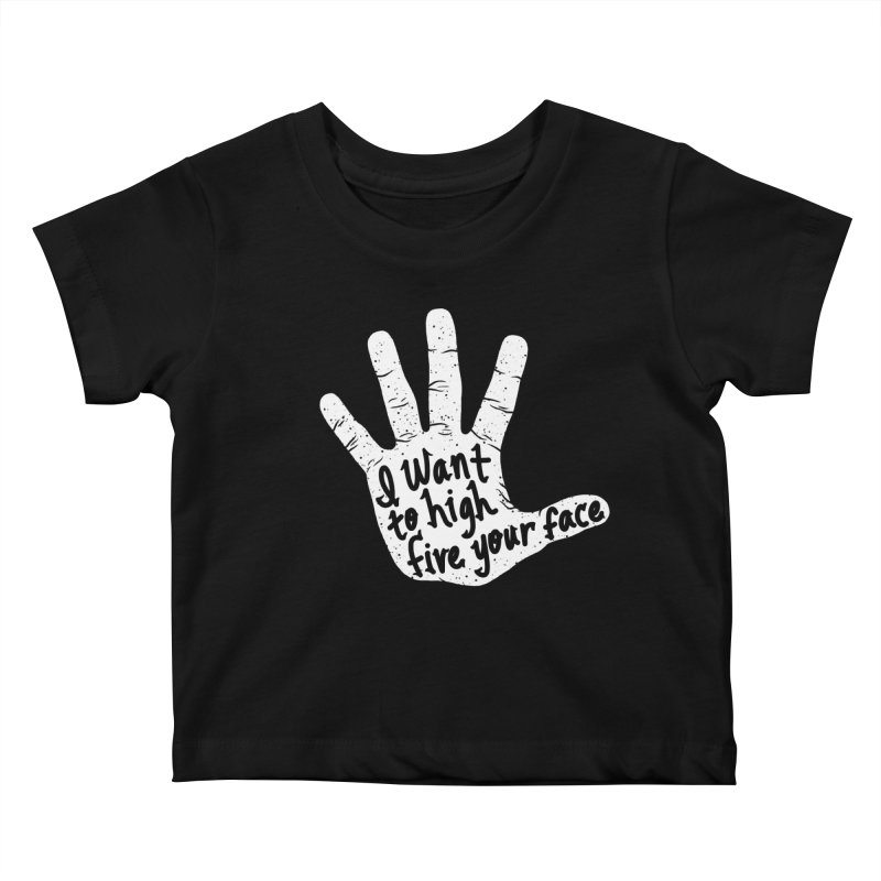 Hand to Face Kids Baby T-Shirt by SteveOramA