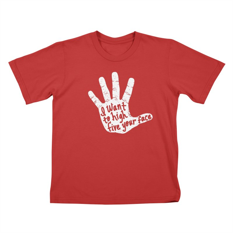 Hand to Face Kids T-Shirt by SteveOramA