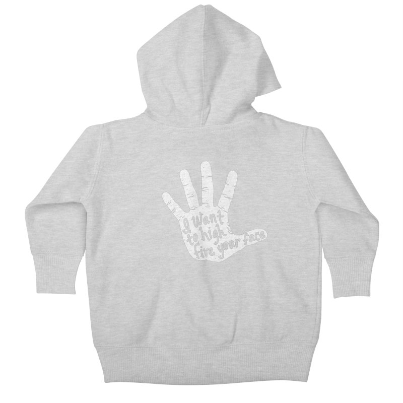 Hand to Face Kids Baby Zip-Up Hoody by SteveOramA