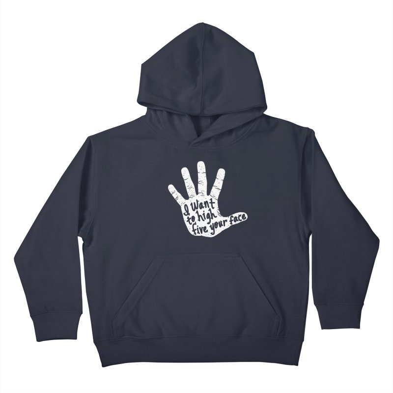 Hand to Face Kids Pullover Hoody by SteveOramA