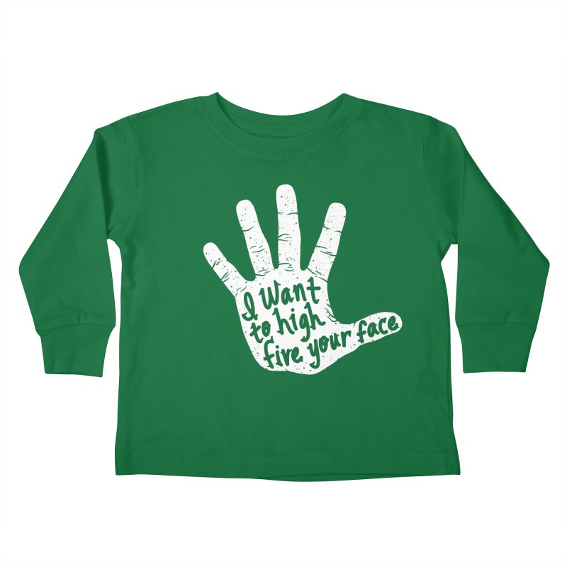 Hand to Face Kids Toddler Longsleeve T-Shirt by SteveOramA