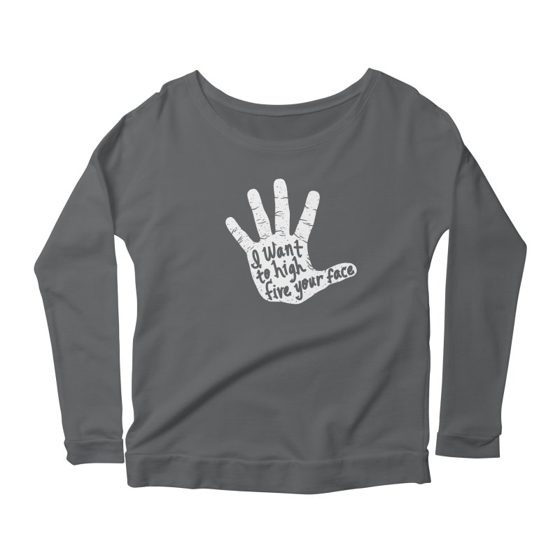 Hand to Face Women's Scoop Neck Longsleeve T-Shirt by SteveOramA