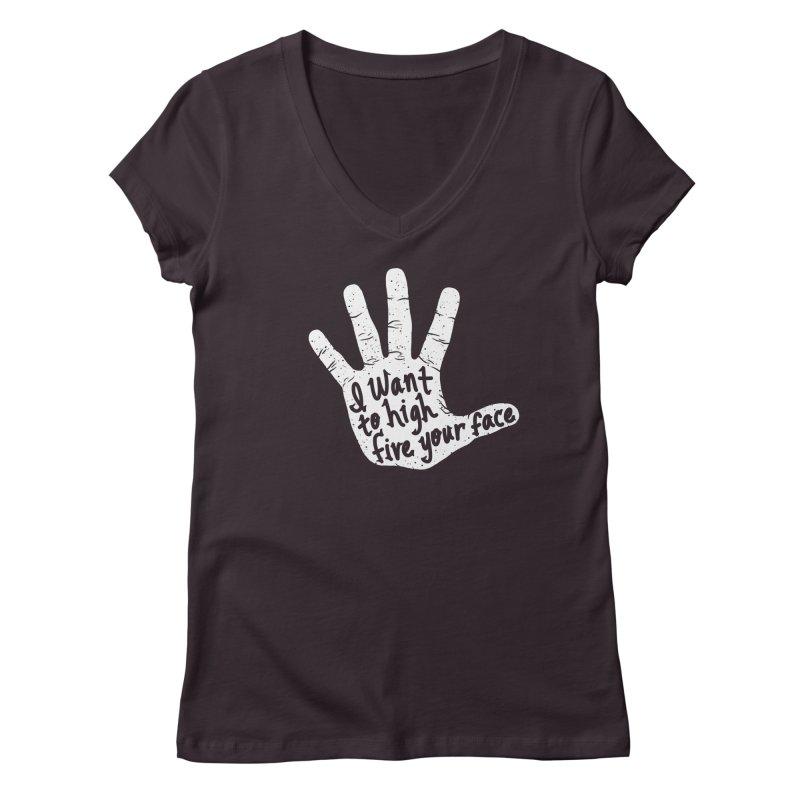 Hand to Face Women's Regular V-Neck by SteveOramA