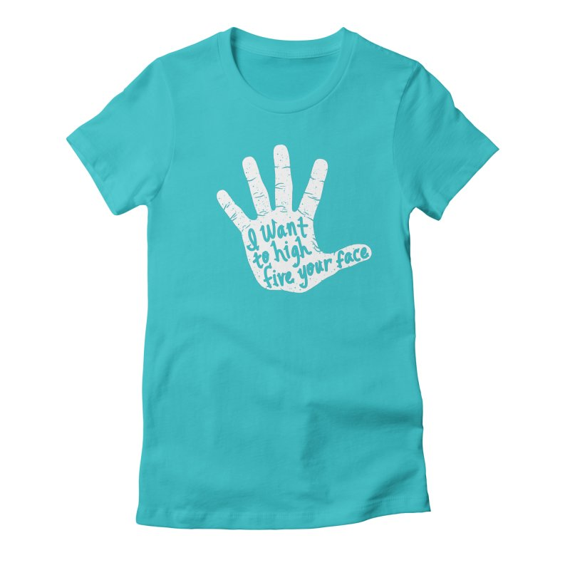 Hand to Face Women's Fitted T-Shirt by SteveOramA