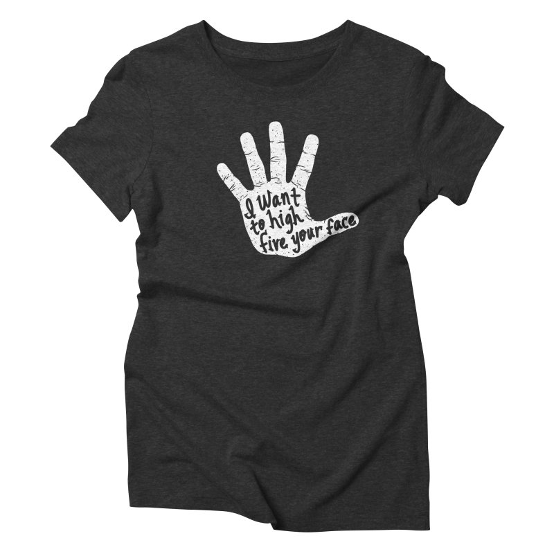 Hand to Face Women's Triblend T-Shirt by SteveOramA