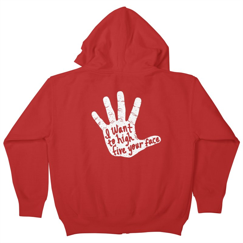 Hand to Face Kids Zip-Up Hoody by SteveOramA