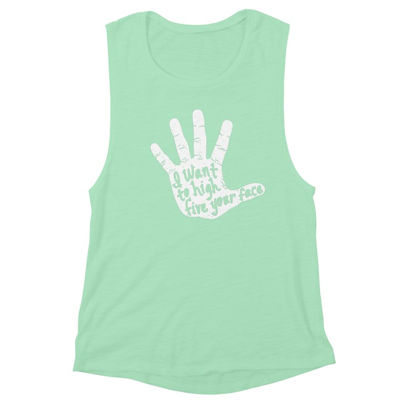 Hand to Face Women's Muscle Tank by SteveOramA