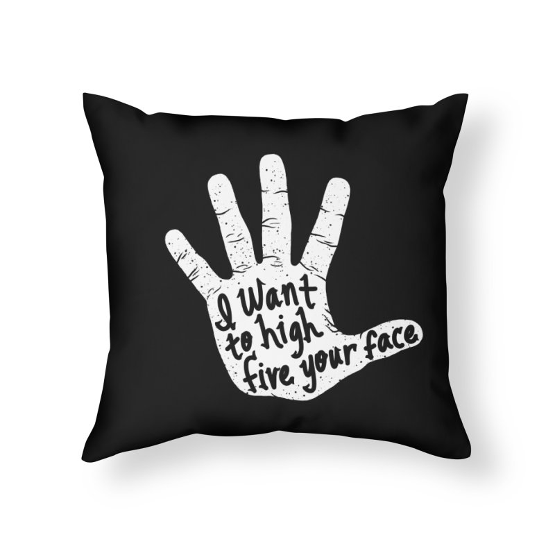 Hand to Face Home Throw Pillow by SteveOramA