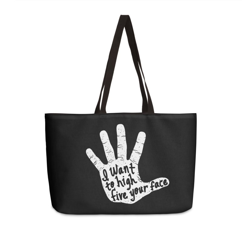 Hand to Face Accessories Weekender Bag Bag by SteveOramA