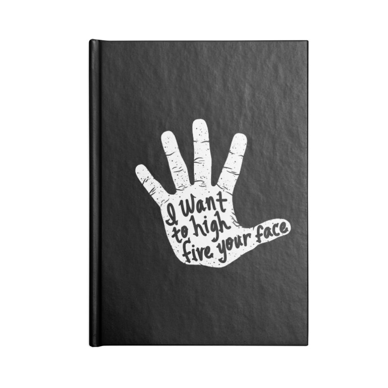 Hand to Face Accessories Lined Journal Notebook by SteveOramA