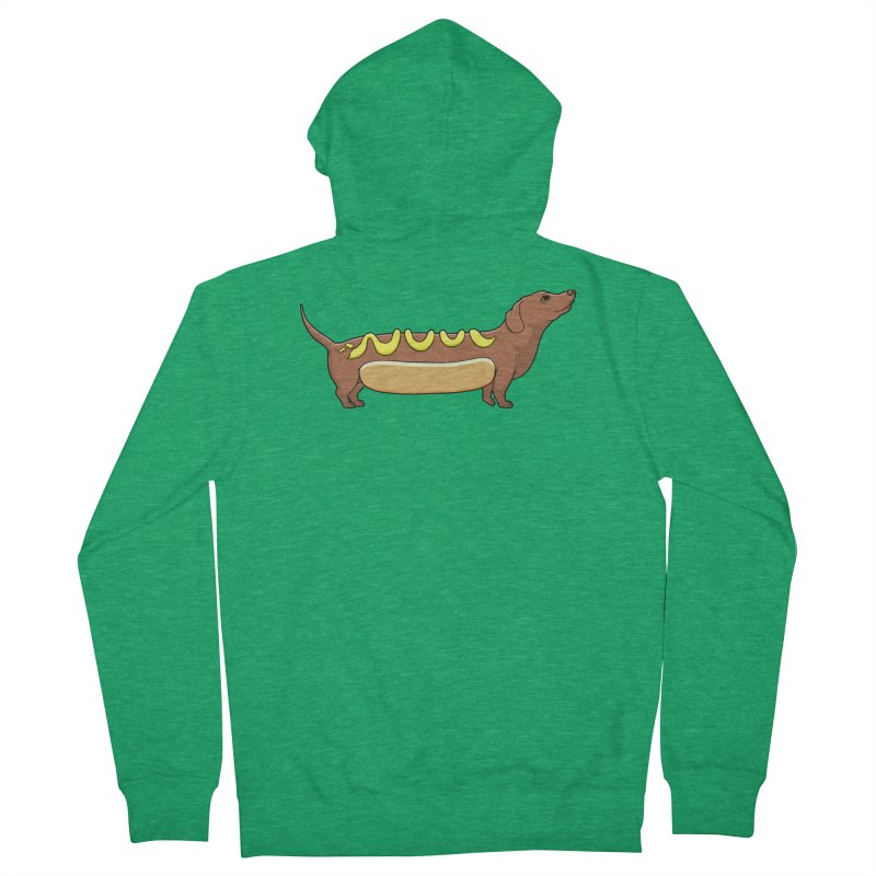 Weinerdog Men's Zip-Up Hoody by SteveOramA