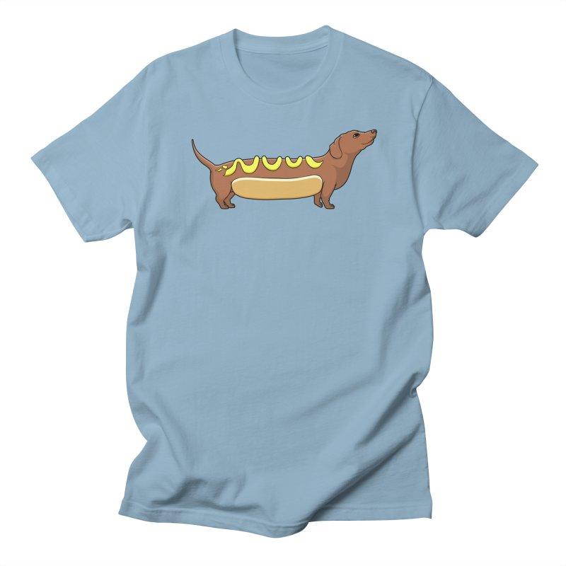 Weinerdog Men's T-Shirt by SteveOramA