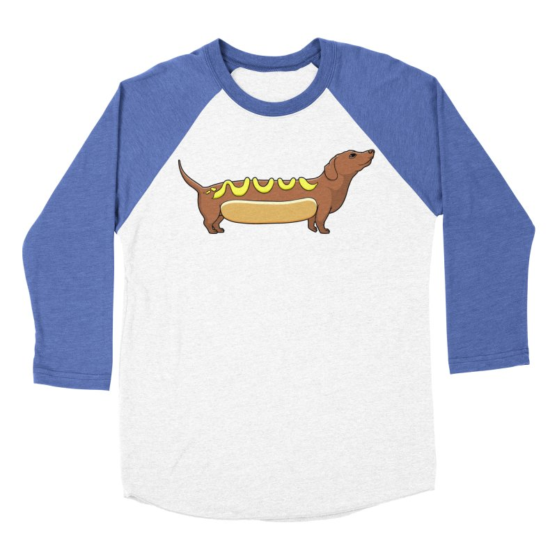 Weinerdog Men's Baseball Triblend T-Shirt by SteveOramA