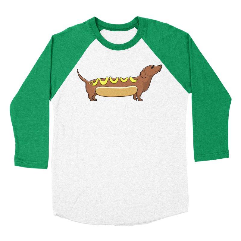 Weinerdog Men's Baseball Triblend Longsleeve T-Shirt by SteveOramA