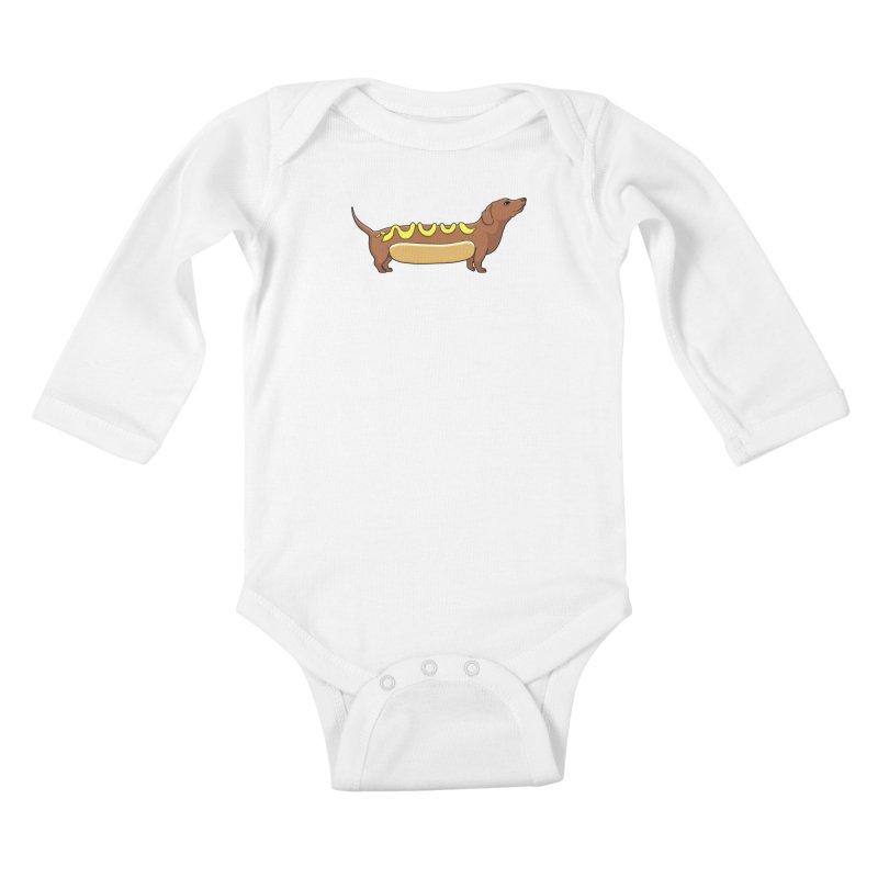 Weinerdog Kids Baby Longsleeve Bodysuit by SteveOramA