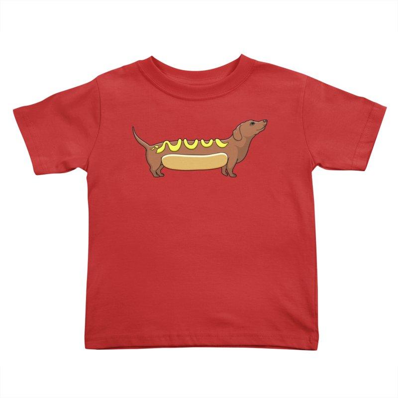 Weinerdog Kids Toddler T-Shirt by SteveOramA
