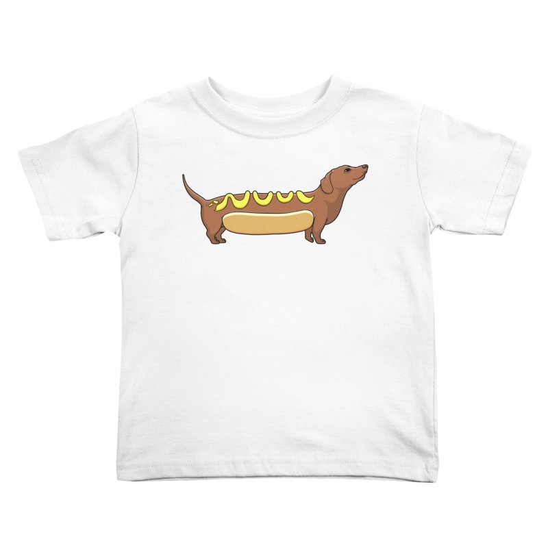 Weinerdog Kids Toddler T-Shirt by SteveOramA