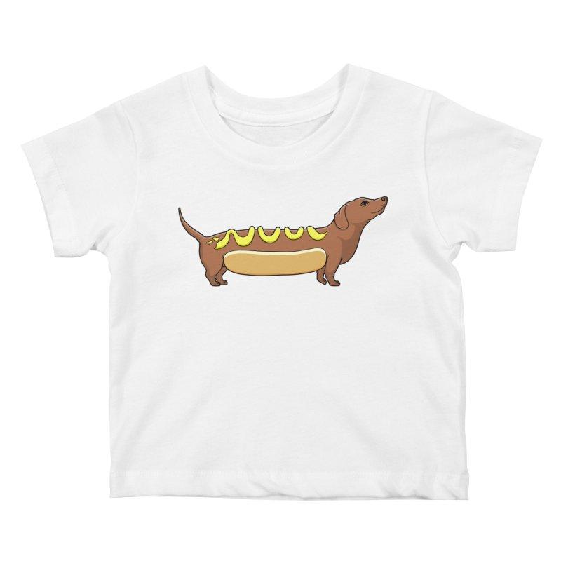 Weinerdog Kids Baby T-Shirt by SteveOramA