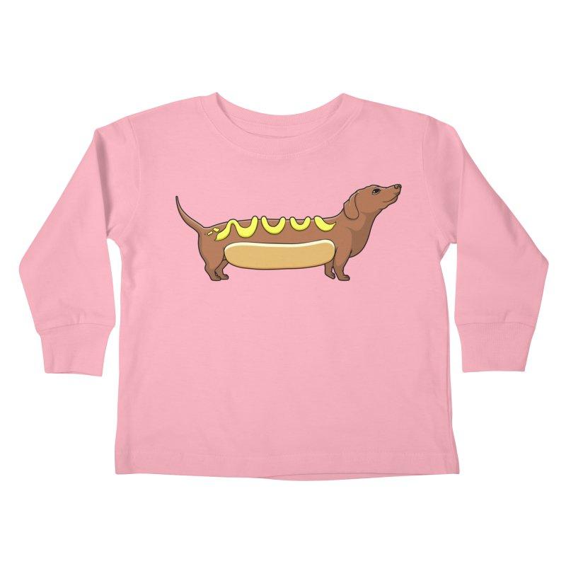 Weinerdog Kids Toddler Longsleeve T-Shirt by SteveOramA