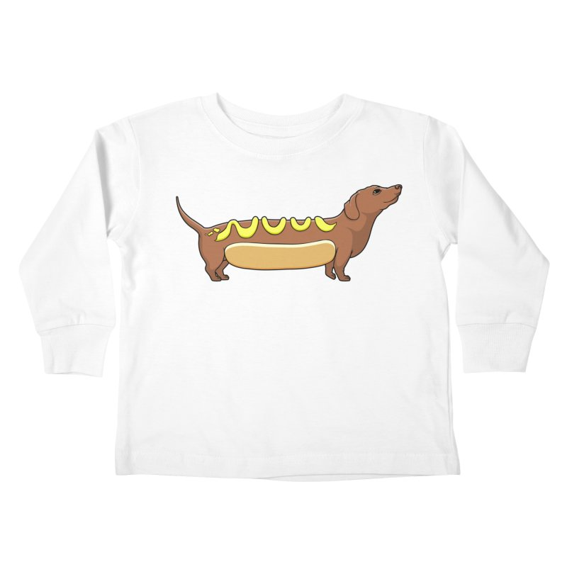 Weinerdog Kids Toddler Longsleeve T-Shirt by SteveOramA