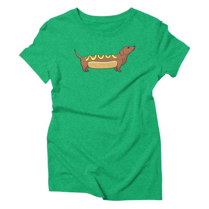 Weinerdog Women's Triblend T-Shirt by SteveOramA