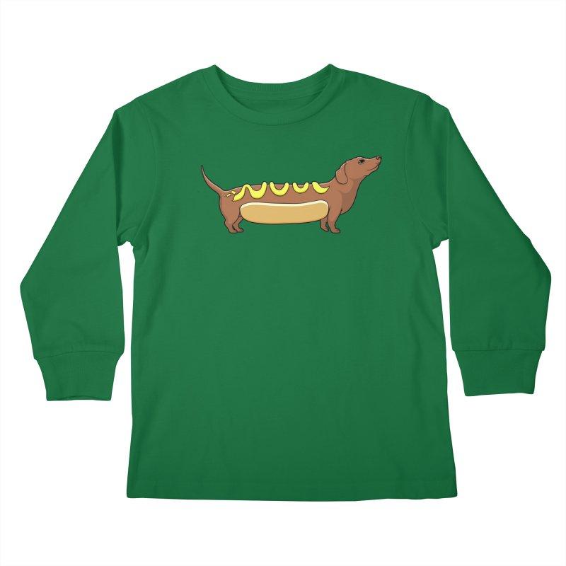 Weinerdog Kids Longsleeve T-Shirt by SteveOramA