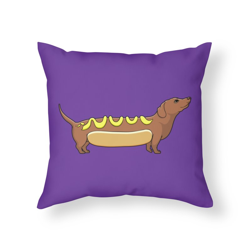 Weinerdog Home Throw Pillow by SteveOramA