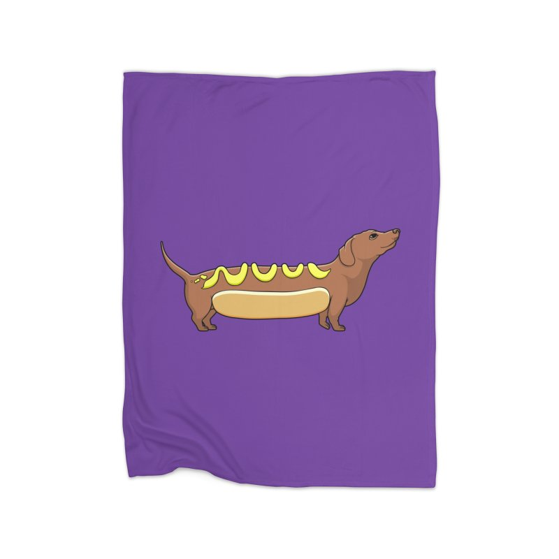 Weinerdog Home Fleece Blanket Blanket by SteveOramA