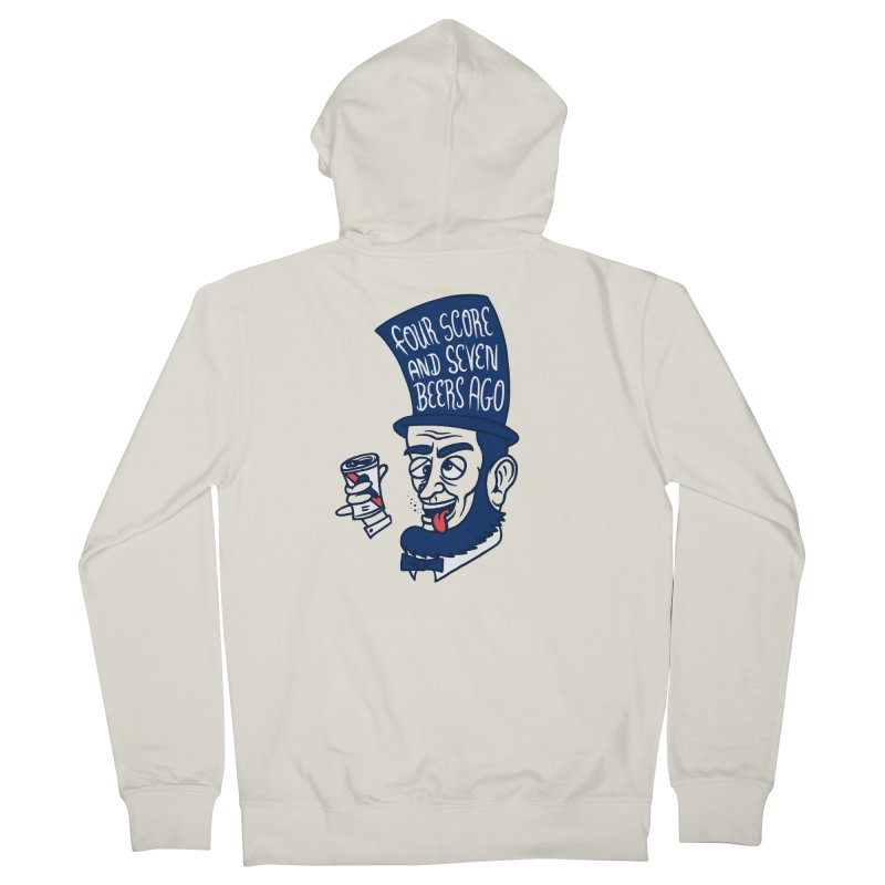 Abe Drincoln Men's French Terry Zip-Up Hoody by SteveOramA