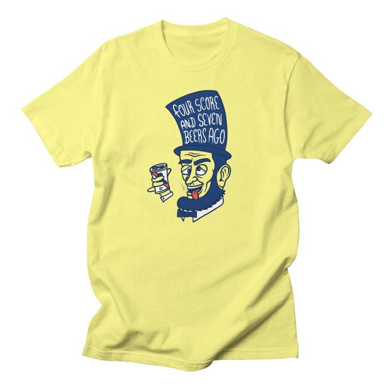 Abe Drincoln Men's Regular T-Shirt by SteveOramA