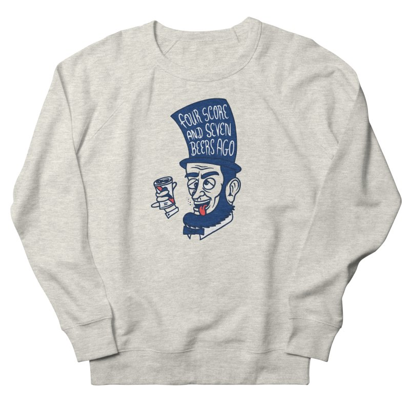 Abe Drincoln Men's French Terry Sweatshirt by SteveOramA