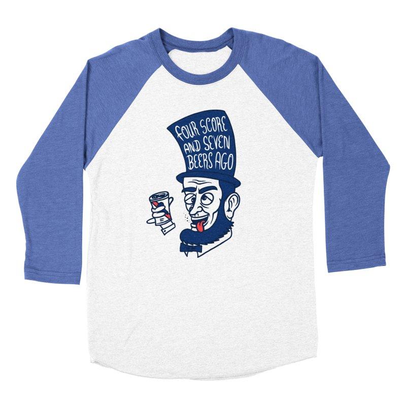 Abe Drincoln Women's Baseball Triblend Longsleeve T-Shirt by SteveOramA