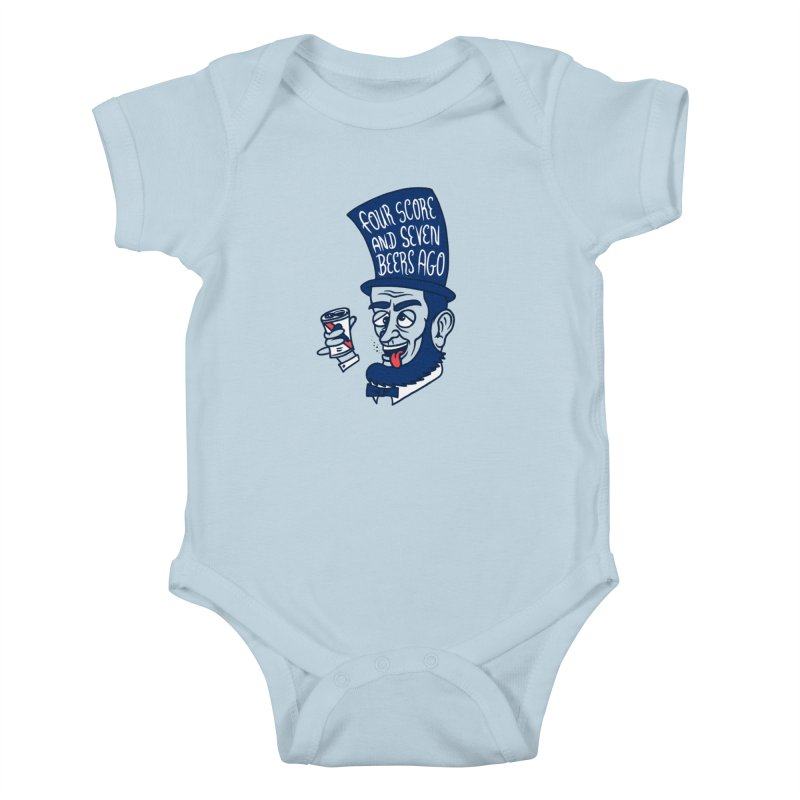 Abe Drincoln Kids Baby Bodysuit by SteveOramA