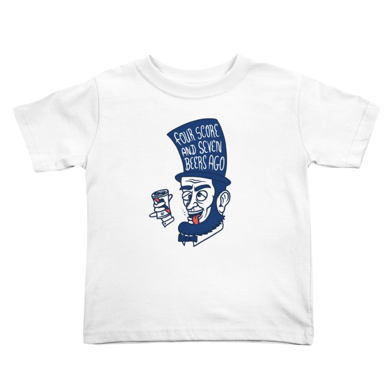 Abe Drincoln Kids Toddler T-Shirt by SteveOramA
