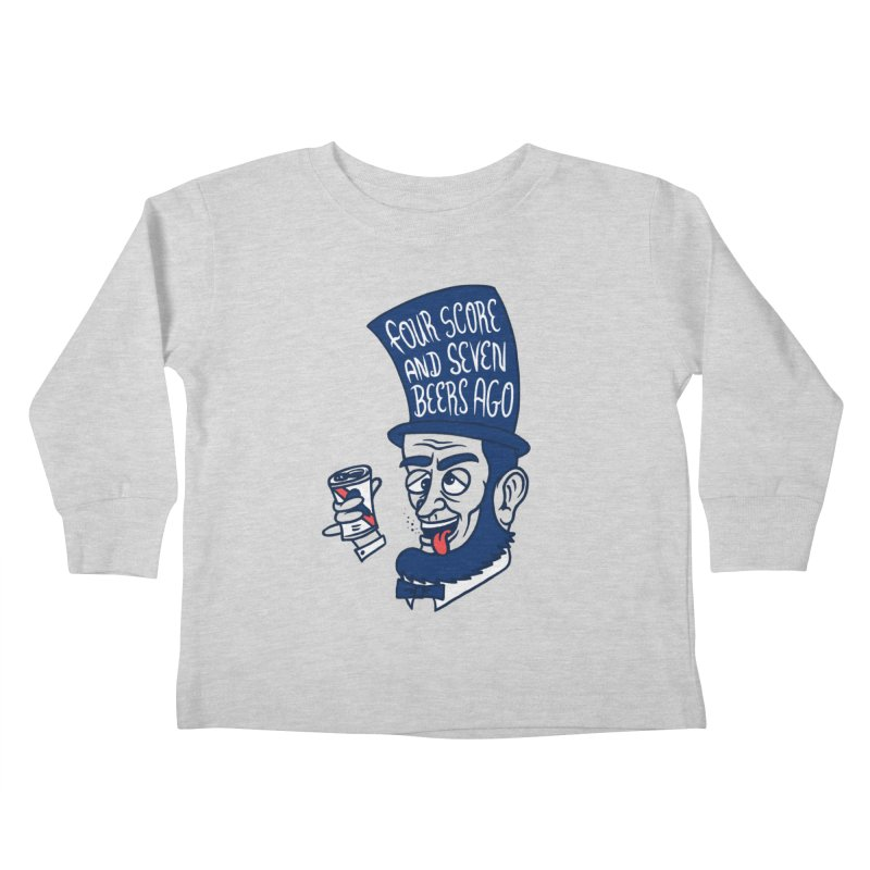 Abe Drincoln Kids Toddler Longsleeve T-Shirt by SteveOramA